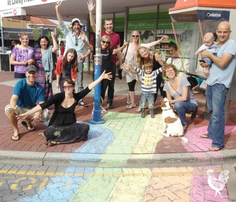 • The Beaufort Srreet Network took to the streets during the week—with chalk—as part of a colourful nationwide dig at the NSW government. Photo supplied | Michelle Grady