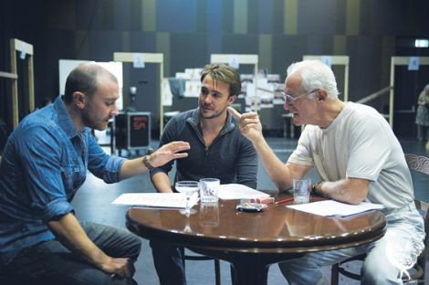 • Josh McConville Ben O'Toole and John Stanton in Death of a Salesman, showing at the Heath Ledger theatre.