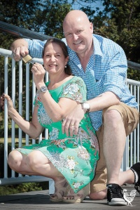 • Tracy and Phil Harrison with a new lock of love at Claisebrook Cove. Photo by Jeremy Dixon