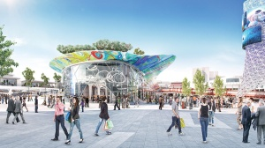 • One aspect of the Metropolitan Redevelopment Authority's concept for the new Horseshoe plaza.