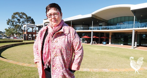 • Maylands Labor MP Lisa Baker outside The Rise. Photo by Matthew Dwyer