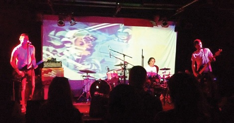 • Shimmergloom takes the stage at the Pulmac launch gig. Photo by Tracey Read