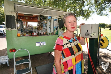 • Cool Breeze Cafe owner Georgia Johnson—losing power means closing up and sacking staff. Photo by Matthew Dwyer