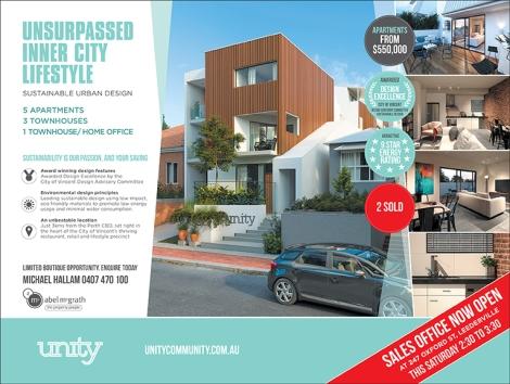 Unity HalfPage advert 265x200mm PRESS.indd