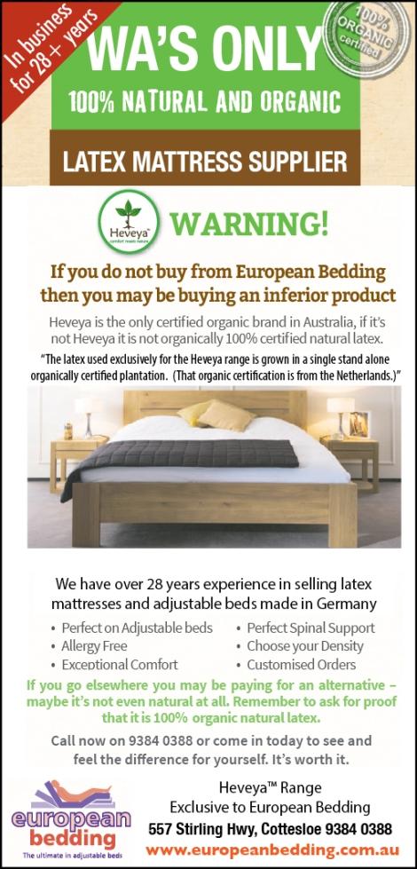 870 European Bedding 15x2