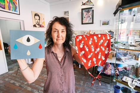 • Sioux Tempestt and original local art you can get at the Beaufort Street Uncharted Collective. PhotobyMatthewDwyer
