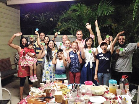 • A Welcome Dinner Project evening in the eastern states. Photo supplied