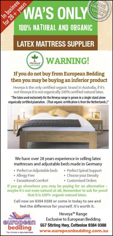 European Bedding 15x2