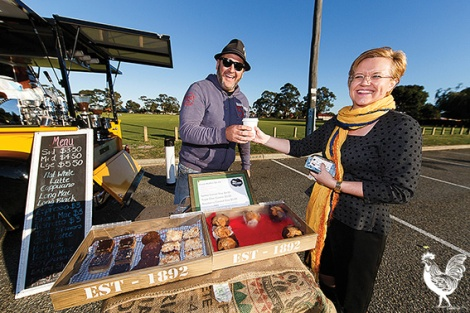 • Craig Mauger, owner of the Bootlegger Coffee Co truck, at Morley's Crimea Reserve. Photos by Matthew Dwyer.