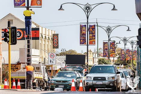 • CCTV cameras being installed on Eighth Avenue. Photos by Matthew Dwyer