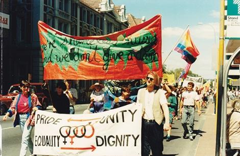 • Perth's first Pride parade, in 1990. Photo supplied   Sue Ravine