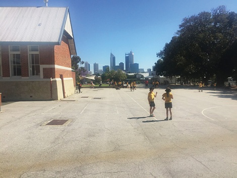• Dust, sun and cement: Highgate primary school kids need a better playspace.