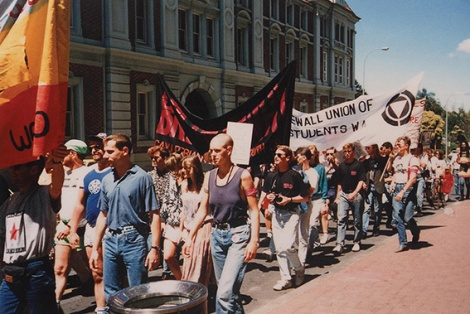 • The first Pride march, in 1990.