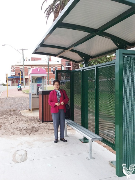 • Today: Maylands' elderly bus passengers now have a sheltered bus stop.
