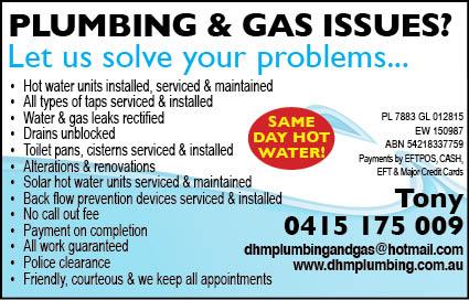 DHM Plumbing 5x2