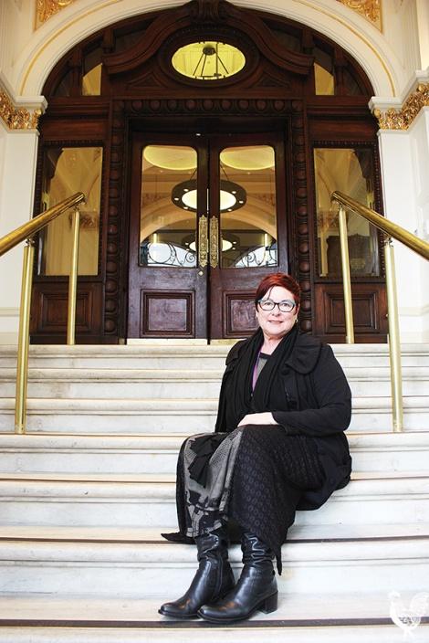 • Lisa Baker at the Palace Hotel. PhotobySteveGrant