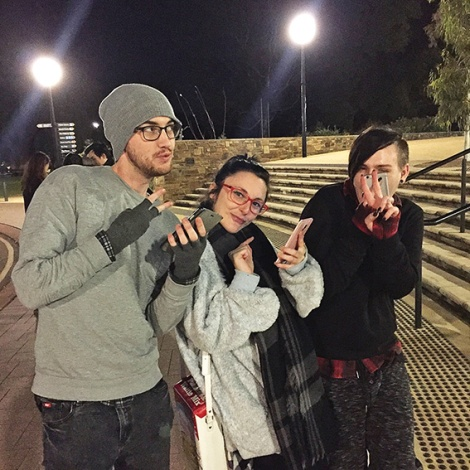 • Hundreds of young Pokemon trainers like Joe, Jenni and John have been coming to Kings Park nightly, rugging up against the cold to catch rare creatures.