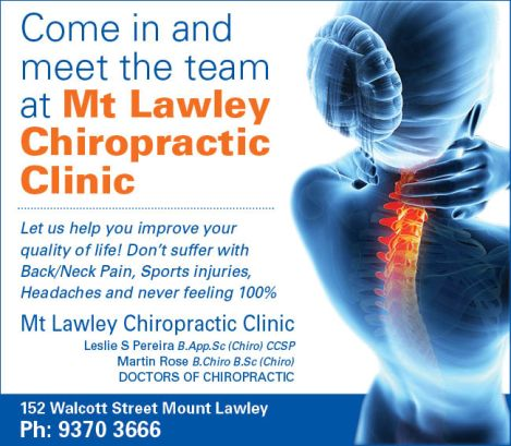 940 Mt Lawley Chiro Clinic 10x3