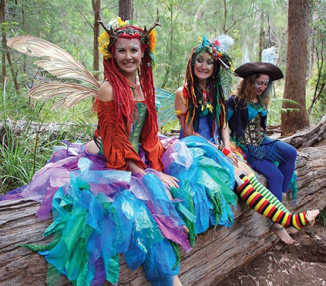• Eco faerie Cara Walker (left)teaches kids to look after nature like the faeries of olde.