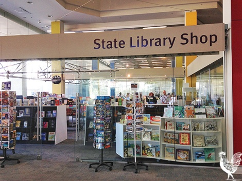 • The state library shop seems to have got a new life now the new museum is going up next doors.