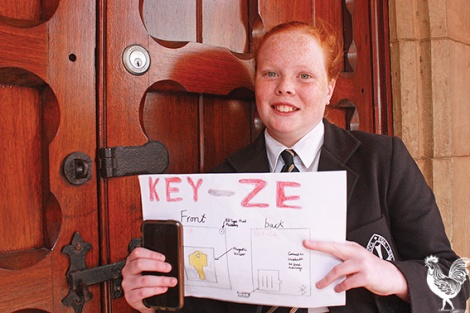 • Budding inventor Rosie Cake and her plans for Key-ze.