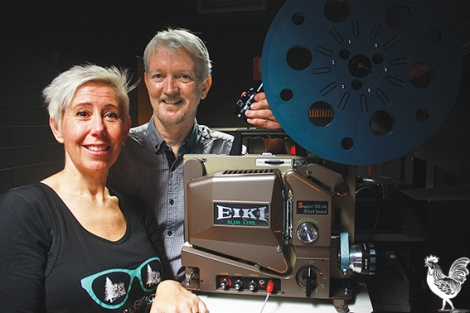 • The Mount Lawley Society's Mark Hodge and Christina Gustavson are keen to see some heritage films rolling in. Photo by Steve Grant