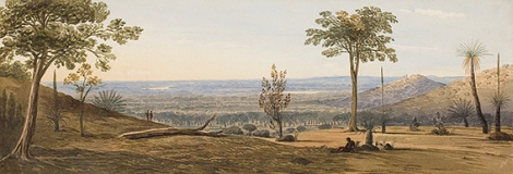 • Frederick Garling's View Across the Coastal Plain 1827, State Art Collection.