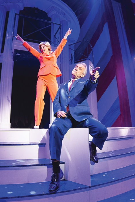 • Lisa Adams and Simon Burke as Bill Clinton and Hilary Clinton (or is it Rodham this week? Check Google for the latest update).