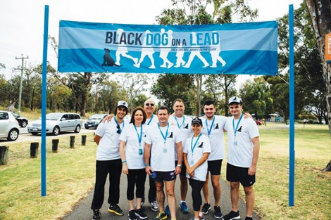 The 'Black Dog on a Lead'  committee at last year's walk.