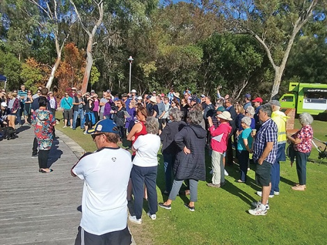 • More than 80 locals turned up to a lakes crisis meeting earlier this year, forming the Friends of Maylands Lakes in its wake. Photo by Roger Tomlins