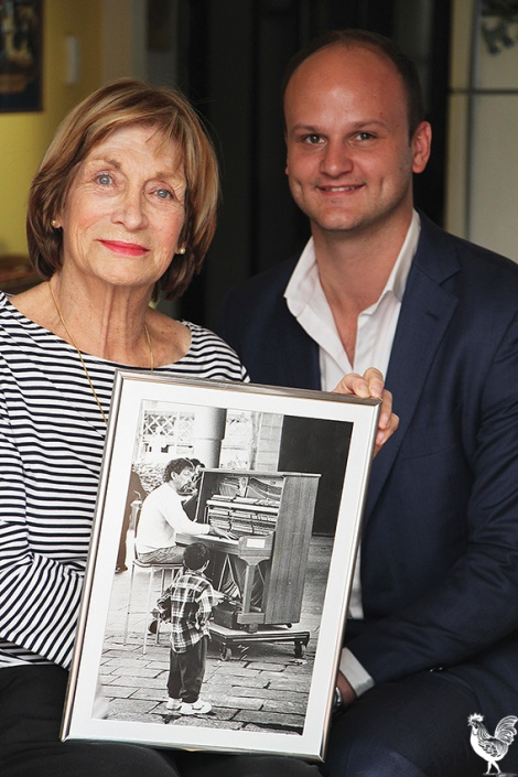 • Reece Harley with Joan Gilling. Photo by Steve Grant