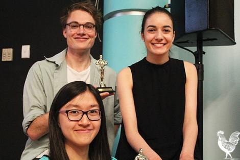 • Alfindy Agyputri and Cassandra Lionetto-Civa took home the open award while Finnian Williamson won the student category.