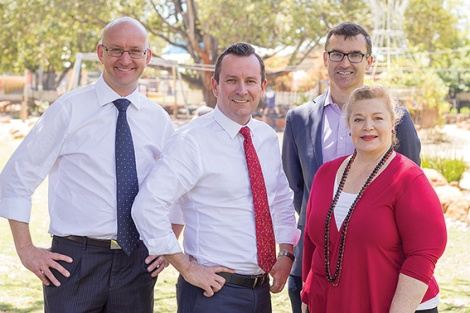 • Opposition leader Mark McGowan and education shadow Sue Ellery have thrown a spanner in the works, saying Labor would focus on a school in the highly marginal Perth electorate.