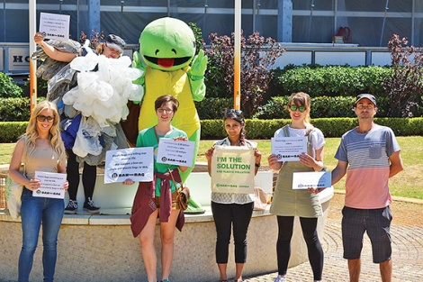 •Anti plastic bag campaigners were told they weren't allowed to drop off a petition of 5,111 signatures at environment minister Albert Jacob's office.