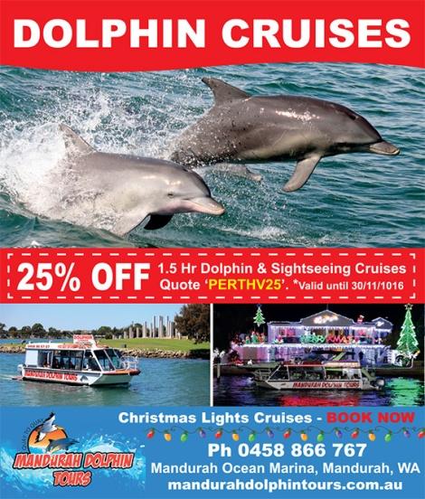Mandurah Dolphin Tours 10cmH x 8.5cmW - Perth Voice 29102016