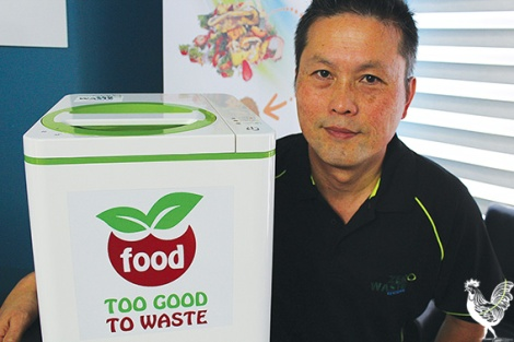 • Bryton Toh sells these waste dehydrators from a shop in Ascot. By reducing food waste to a fraction of its original size, they limit the amount of waste being sent to landfill.