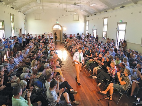 • About 270 people turned up to see John Carey launch his campaign for the state seat of Perth.