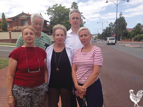 • Mount Lawley Society members Christina Gustavson, Rita Tognini, Sheila Robinson, Roger Elmitt and Paul Collins. Photo by Steve Grant